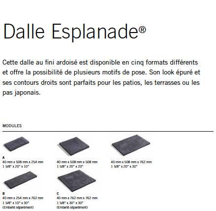 Module Muret Esplanade® Tandem®