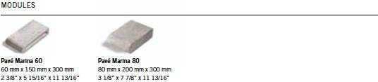 Module Marina<sup>® </sup> 60 / 80 Pavers