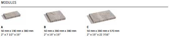 Module Dalle Mondrian® 50