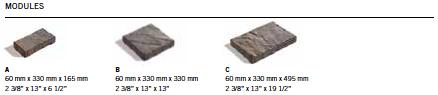 Module Dalle Mondrian® 60